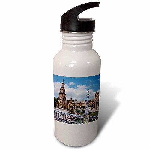 3dRose Danita Delimont - Spain - Spain, Andalusia, Seville. Plaza de Espana scenic. - Flip Straw 21oz Water Bottle (wb_277897_2) by 3dRose