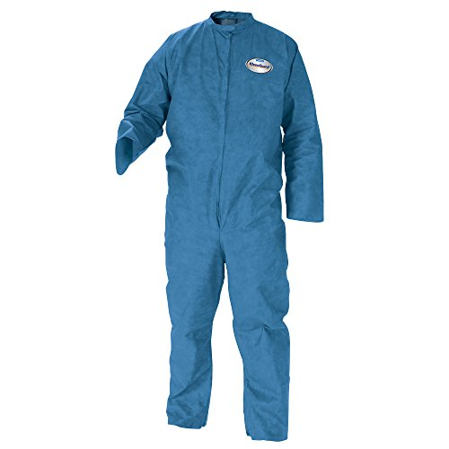 Kleenguard A20 Breathable Particle Protection Coveralls (58532), REFLEX Design, Zip Front, Blue, Medium, 24 / -