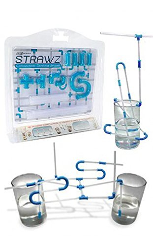 Blue Strawz Connectable Build Your Own Straws Construction Kit