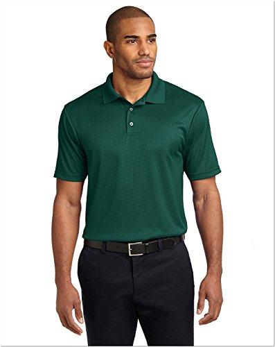 Port Authority Performance Fine Jacquard Sport Shirt, L, Green Glen