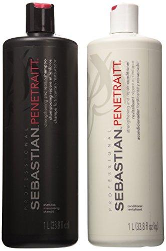Sebastian Penetraitt Strengthening and Repair Shampoo & Conditioner Liter Set (33.8 oz)