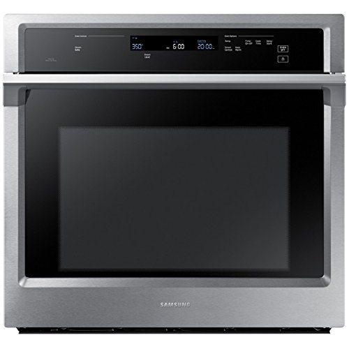 Self Cleaning Dual Fan - Samsung Steam Cook Self-cleaning Convection Single Electric Wall Oven