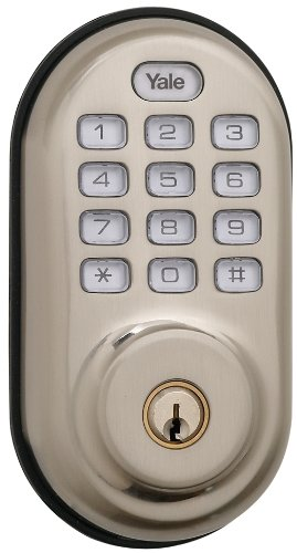 Yale Real Living Electronic Push Button Deadbolt Fully Motorized with Zwave Technology ()