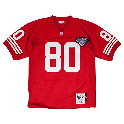 90ab9b8c Mitchell & Ness Jerry Rice 1994 Authentic Jersey #80 San Francisco 49ers Red  (Red, XL)