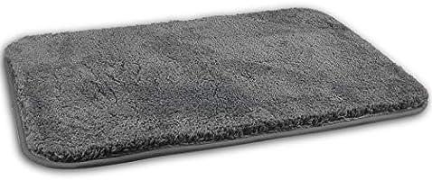FCSDETAIL Tapis de Bain Antidérapant à Poils Longs en Microfibre, Tapis de Sol Lavable en Machine avec Microfibre Douces...