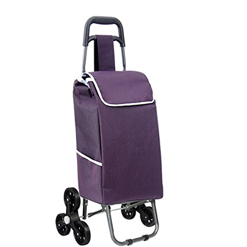 YONGMEI Staircase Shopping Foldable Household Portable upholstered Waterproof Oxford Bag Rubber Dumb Wheel Trolley can Withstand 75Kg Weight (Color : 1#)