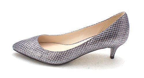 Cole Haan Womens Gisellesam Pointed Toe Classic Pumps Silver 4k3TU0