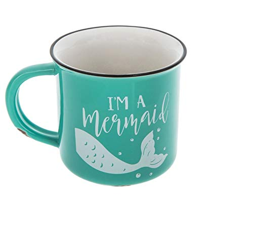 I'm A Mermaid Turquoise Blue Ceramic Coffee Mug HOT Chocolate Cup ()