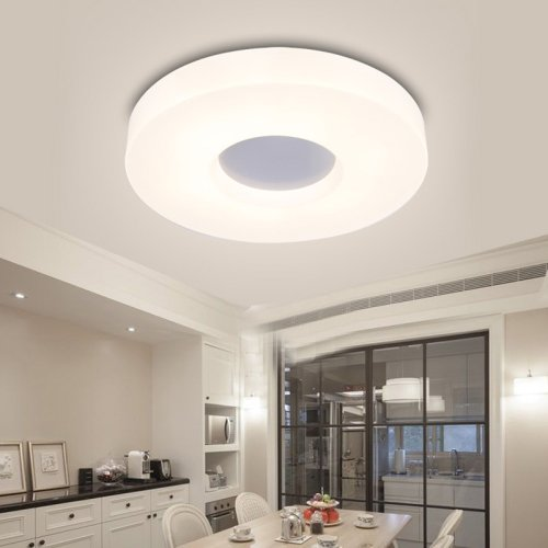 LightInTheBox Modern/Contemporary Round Ceiling Lights/Flush Mount LED Lighting Fixture, Light Source=Warm White, Voltage=90-240V