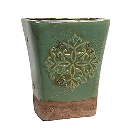 Amazon.com: Hosley's Seafoam Green, Ceramic Vase, 9
