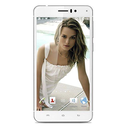 Landvo XM100 Pro 3G Android 5.1 Smartphone 5.5 Zoll 1GB RAM+8GB ROM IPS HD Screen Pro MT6580 Quad Core 1.3GHz Dual SIM Handy ohne Vertarg Smart Wake GPS A-GPS Weiß