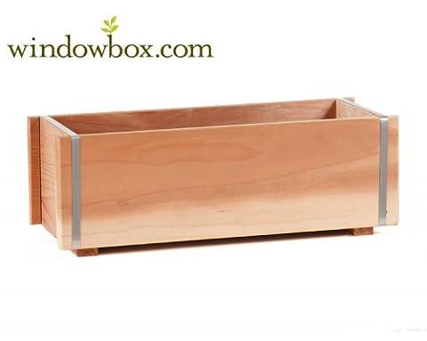 60 Inch Banded Redwood Planter - Banded Box