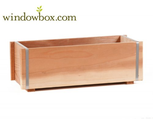 - 60 Inch Banded Redwood Planter