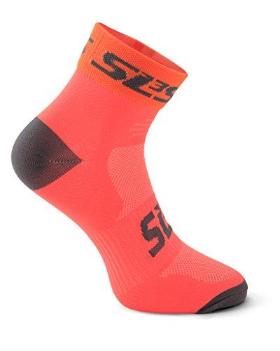 German Sls3 Sottile Corsa blister 3 Da Orange nbsp; 1 Plantare 3 6 Anti Molto nbsp;paia Supporto Colori pack amp; Progettato Neon Calze wSwrTA