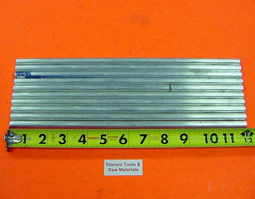 12 Pieces 5/16'' Aluminum Round 6061 T6511 Solid Rod 12'' Long New Bar Stock .312''