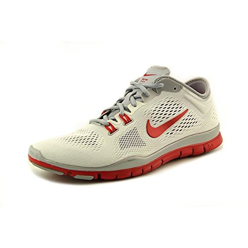 Nike Womens Free 5.0 TR Fit 4 Team Cross Trainer, WHITE/SPORT RED-WOLF GREY-PURE PLATINUM, 42 B(M) EU/7.5 B(M) UK