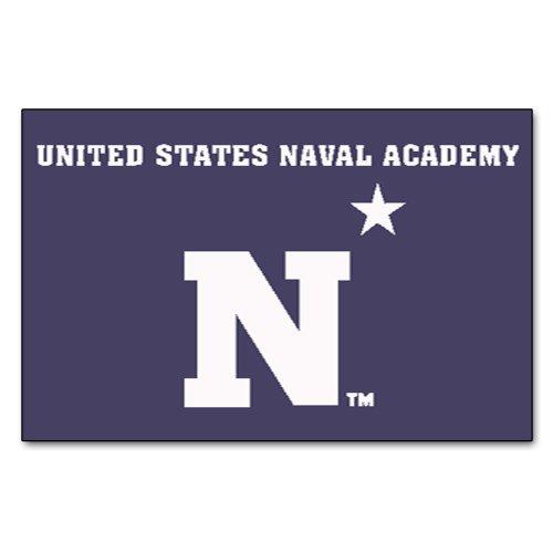 Rug Starter Academy (Fanmats NCAA US Naval Academy Midshipmen Nylon Face Starter Rug)