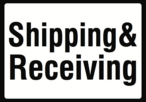 Shipping & Receiving Sign - Warehouse Retail Order Pick Up Zone Signs - Aluminum Metal - Order Warehouse