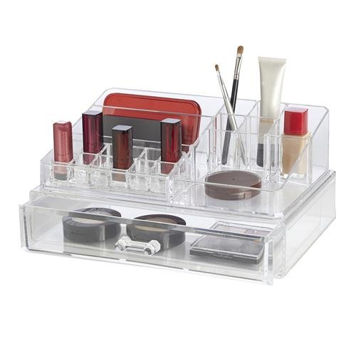 Clearly Compartment Cosmetic Organizer Drawer