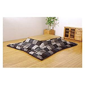 AntiGnor Kotatsu Futon Blanket Square 190×190 Rectangle 190x240cm Patchwork Style Cotton Soft Quilt Japanese Kotatsu…