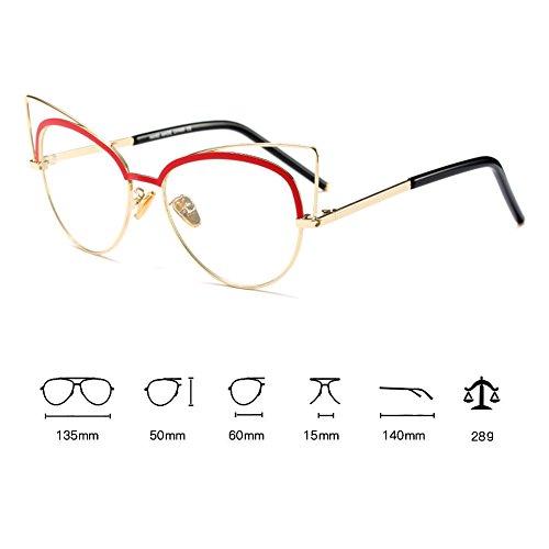 de Lunettes Clear Lens Myopia Frame Lunettes de vue C6 Femmes Lunettes Juqilu soleil chat de xvwnpEzXz