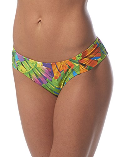 olynesian Palms Tab Side Hipster Bikini Bottom Multi 4 ()
