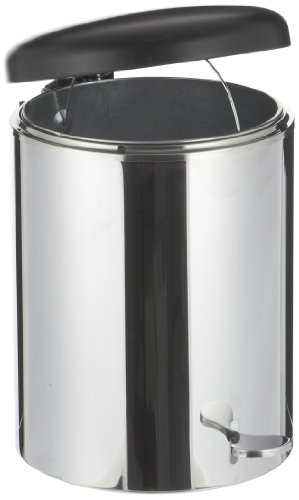 Witt 2240WH Step On Metal Biohazard Waste Container, 4gal Capacity, 11-1/2