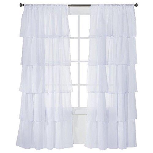 Xhilaration Ruffle Curtain Panel SET