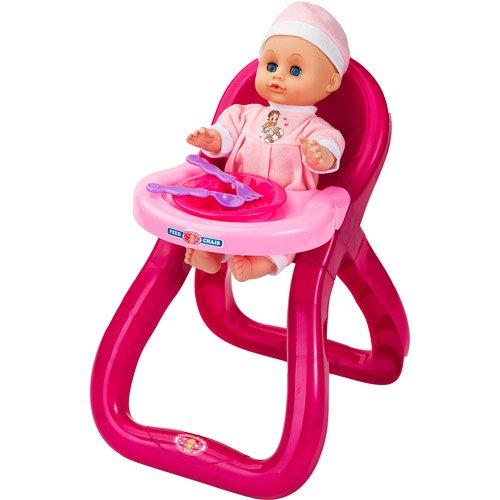 Badger Basket Modern Doll Feeding Chair with Doll