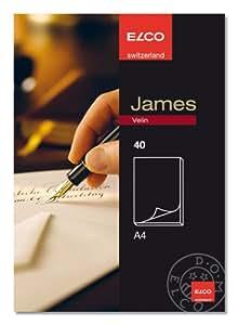 ELCO James Velin - Bloc de notas (A4, 100 g/m², papel de barba, 40 hojas)