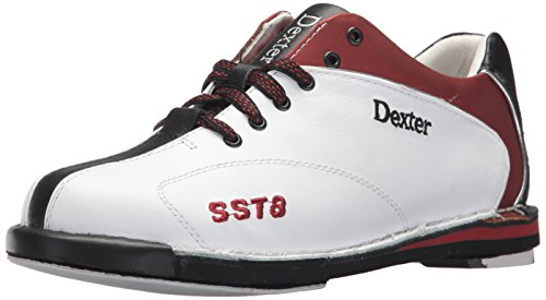 (Dexter Women's SST 8 LE Bowling Shoes, White/Red/Black,)