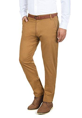 De Para fit Pantalón Con Cinnamon 5056 Hombre Pantalones solid Elástico Cinturón Tela Machico Regular Chino FpqRI4