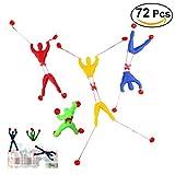 NUOLUX 72 Pcs Kids Children Stretchy Sticky Toy Set Including 24 Sticky Hands 24 Wall Climber Men 24 Sticky Hammers