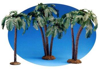 - 7.5 Inch Scale 3 Piece Palm Tree Set