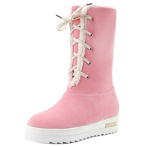 COOLCEPT Botas Calientes para Mujer Pink