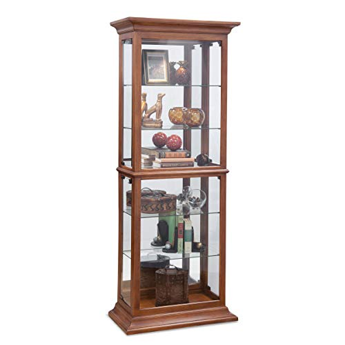 Philip Reinisch Fairfield I Curio Cabinet, Old Oak Finish