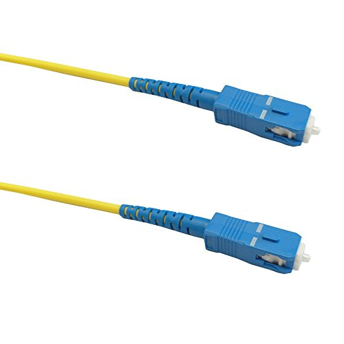 (50ft (15m) Singlemode Simplex SC/SC 9 micron Fiber Cable - 3mm Jacket )