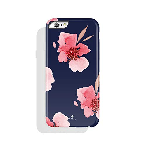 iPhone 6/6s case for Girls, Akna Collection High Impact Flexible Silicon Case for Both iPhone 6 & iPhone 6s [Romantic Pink Flower](742-U.S)