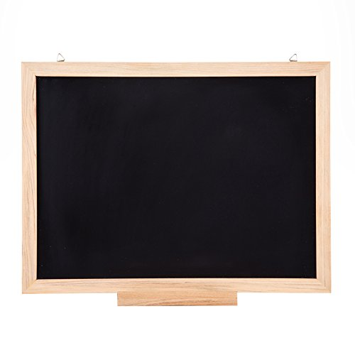 ONE 40 X 60 cm. Chalkboard Hanging MDF and PVC Board with Natural Wooden Edge, Pack 1 pcs.