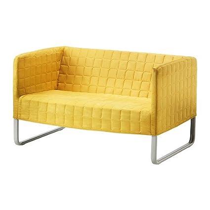 Ikea KNOPPARP - Two-Seat sofá, Amarillo Brillante: Amazon.es ...