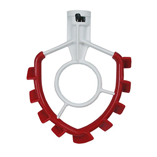 SideSwipe flat beater with flex edge for KitchenAid mixer-6 Qt Flared or Glass Bowl-Lift, red.
