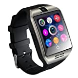 Smart Watch, Ronkoen 2016 Newest Q18 Smartwatch with Camera Original TF/SIM Card Slot for Android and iphone iOs UpgradeThan U8L DZ09-Silver