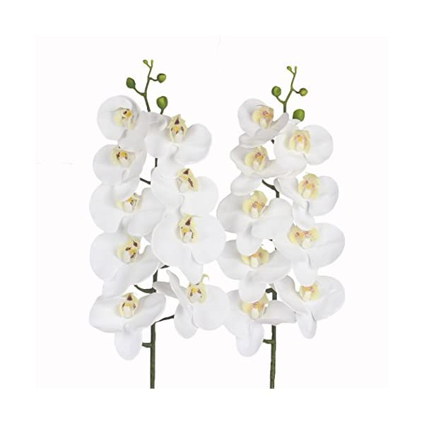 Real Touch Latex Phalaenopsis Flower Bridal Wedding Bouquet Home Office QYH