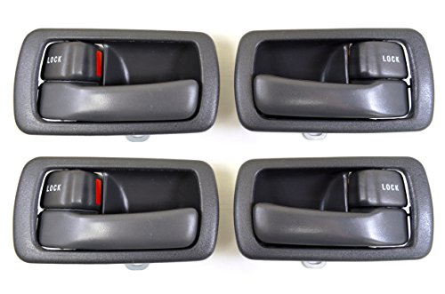 PT Auto Warehouse TO-2532G-QS - Inside Interior Inner Door Handle/Trim, Gray - 2 Left, 2 Right ()