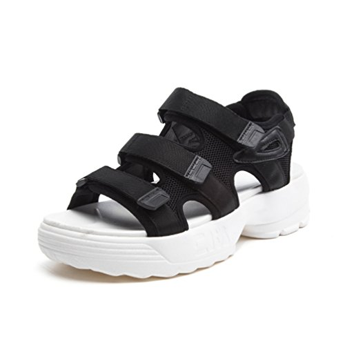 e0903a264ac720 Femme Loisir Marche Sports De 39 Sandales Talon Noir Plateforme À Chaussures  L'extérieur 35 Confortable qTqBCrxwZ