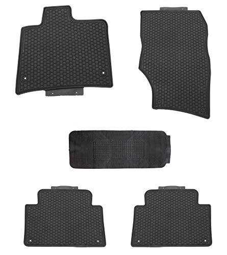 TMB Motorsports Floor Mats for Audi Q7 Black All Weather Rubber