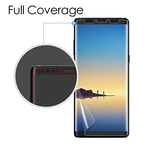 Galaxy Note 8 Screen Protector [3-Pack], Dalinch [Case-Friendly] [Bubble-Free] [Full Coverage] Soft TPU Film for Samsung Galaxy Note8