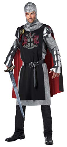 Moon Knight Halloween Costume (California Costumes Men's Renaissance Medieval Knight Ren Faire Costume, Black/Red,)