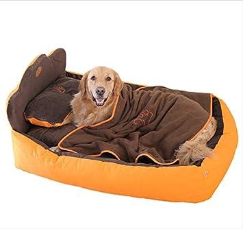 GZDXHN Casa para Perros Extraíble de Tres Piezas de Color Naranja para Mascotas Nido para Gatos