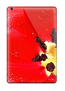 High Quality Shock Absorbing Case For Ipad Mini/mini 2-red Flowers